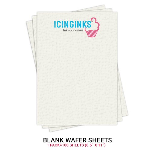 "picture relating to Edible Printable Paper for Cakes named Icinginksâ""¢ Leading Blank Edible THICK Wafer Sheets Pack A4 dimensions - 100 sheets 0.60mm thickness"