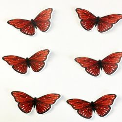 48 Edible Peach Butterflies Pre Cut Wafer Cupcake Toppers