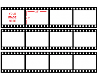 12 Black /& White Film strips Die Cuts//Toppers