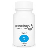 100ml or 3.5OZ CYAN Color Icinginks™ Edible Ink Refill Bottle for Canon Inkjet Printers