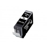 Icinginks™ Black Edible Ink Cartridge for Canon PGI-220BK With Chip