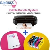 Icinginks™ Wide Format Edible Printer System - Canon PIXMA iX6820 (Wireless) Comes with Edible Cartridges and Frosting Sheets