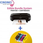 Icinginks™ Wide Format Edible Printer System - Canon PIXMA iX6820 (Wireless) Comes with Complete 5-Pack Edible Cartridges