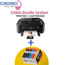 Icinginks™ Edible Printer Bundle System - Canon PIXMA MX922 (Fax+Wireless+Scanner) Comes with Complete 5-Pack Edible Cartridges