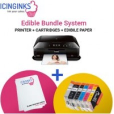 Icinginks™ High Resolution Edible Printer Bundle System for Canon PIXMA MX922 (Fax+Wireless+Scanner)  Comes with Edible Cartridges and frosting sheets