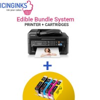 Icinginks Edible Printer Bundle System- Epson WorkForce WF-2630 (Wireless+Scanner) Comes with 4-Pack Edible Cartridges