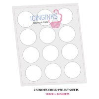 "Icinginks™ Prime Pre-cut Edible Frosting Sheets (2.5""inches) Pack - 24 sheets A4 size"