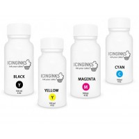 100ml or 3.5OZ Combo Pack Icinginks™ Edible Ink Refills (Black,Cyan,Magenta,Yellow) - 4PACK for Epson Printers