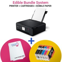 Icinginks Canon Edible Printer Kit - Back Feeder & Top Loader Edible Printer - Comes With Refillable Edible Cartridges and 12 Frosting Sheets Pack