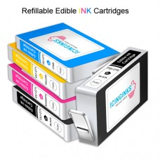 Icinginks™ REFILLABLE Edible Ink Cartridge COMBO PACK for Canon CLI-271/PGI-270 XL's Series With Chip (5 pack) High Yield