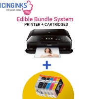 Icinginks™ Edible Printer System for Canon Pixma MG7520 (Wireless+Scanner) Comes with Complete 5-Pack Edible Cartridges