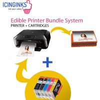 Icinginks™ Edible Printer Bundle System for Canon Pixma MG5720 (Wireless+Scanner) Comes with Edible Cartridges