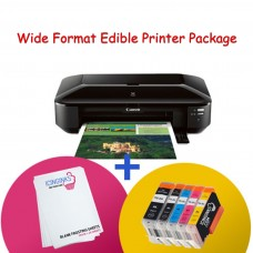 Icinginks™ WIDE Format Edible Printer System - Canon PIXMA iX6820 CW8 Kit (Wireless) Comes with Edible Cartridges and Frosting Sheets