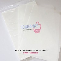 Icinginks™ Prime Blank Edible Wafer Sheets Pack A4 size - 50 sheets 0.27mm thickness